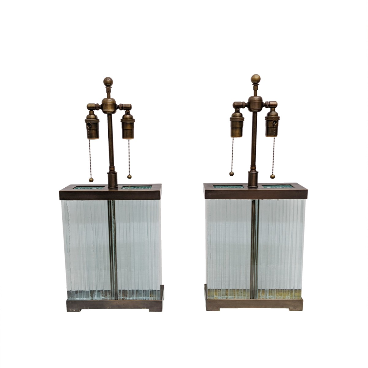 Architectural Glass Slab Table Lamps