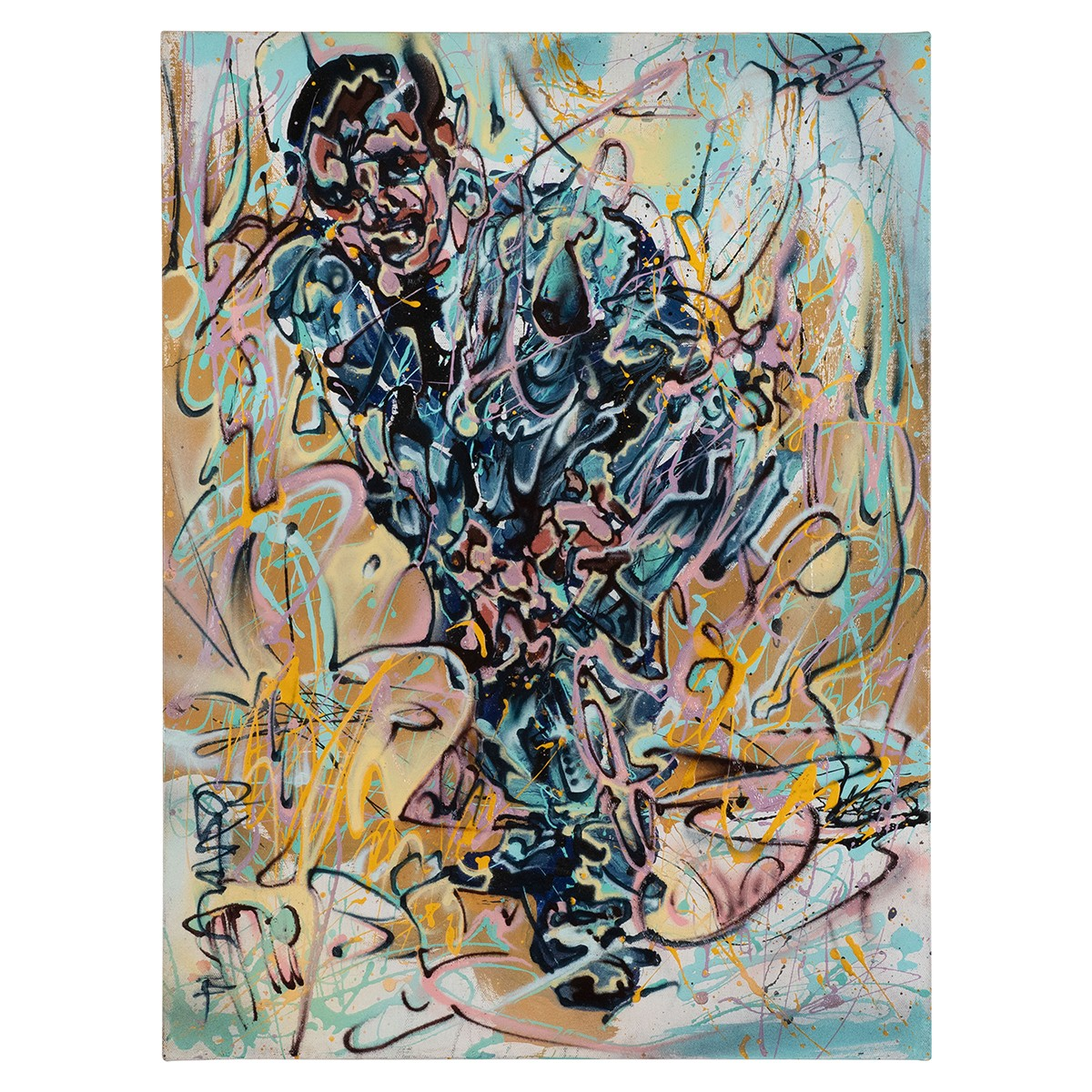 Modern Impressionistic Portrait of Man in Suit by Costain