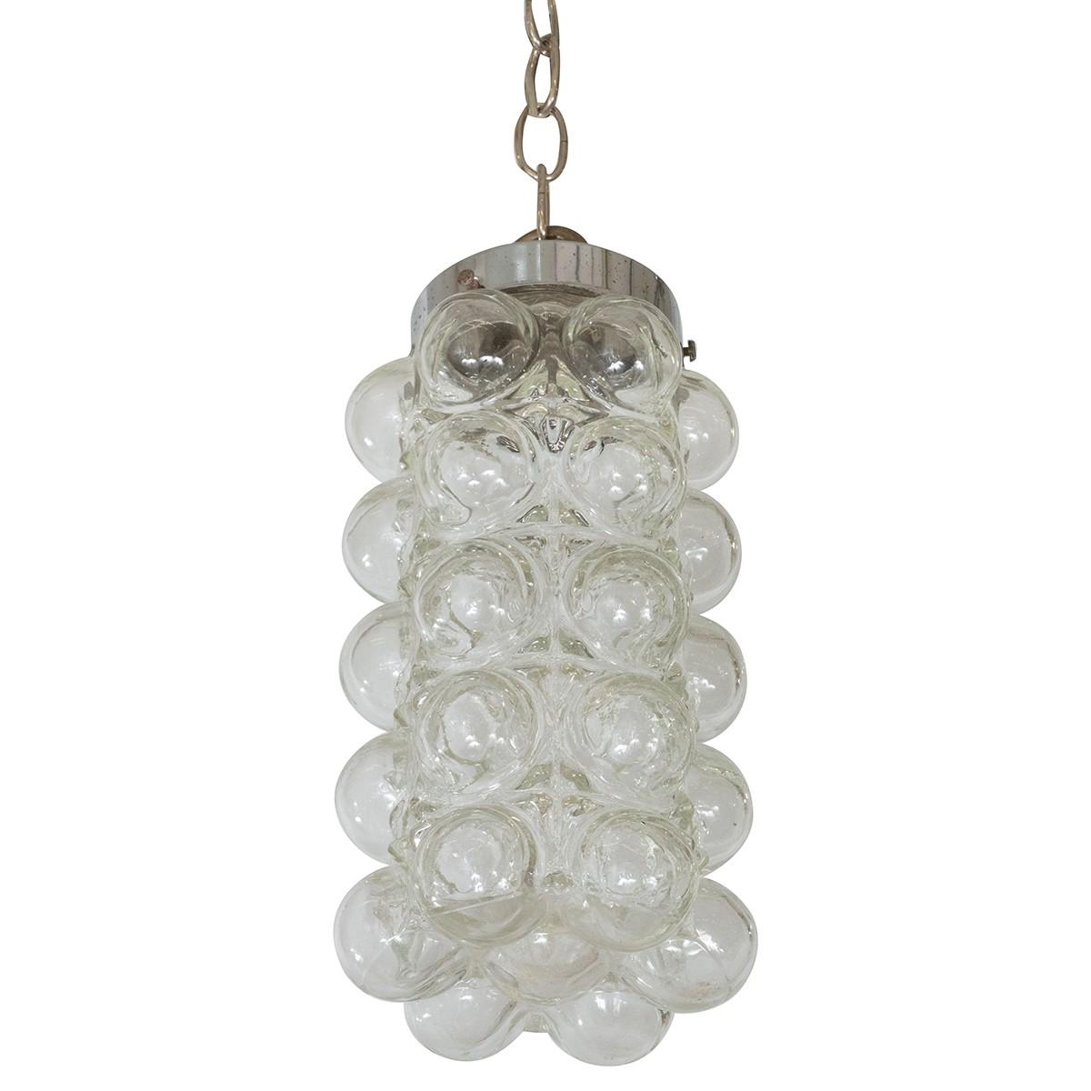 """Clear """"Bubble"""" Glass Pendant"""